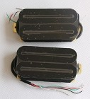 Artec HBLB Hot Rail Humbucker pickups,Black with Black bar,Ceramic