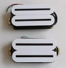 Artec HBLB Hot Rail Humbucker pickups,White with Black bar,Ceramic