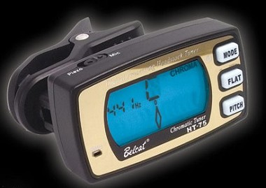 Belcat Automatic Chromatic,guitar,bass tuner,Built in vibrations for accuate tuning,Built in C-Mic for acoustic instruments-Black Color
