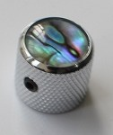 2Pcs*Abalone Dome Top Knob,Chrome Solid Metal,Screw style,for CTS 1/4