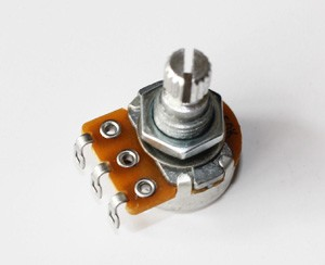 """ALPHA"" Brand Potentiometer,Small Size,B500K, 18mm shaft,Linear Taper,for Les Paul,ES335 etc custom"