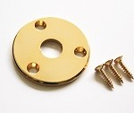 Gold Round Metal Jack Plate,For Flying V Guitar