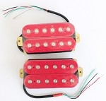 Artec HOC112-RD,Red Open Humbucker Pickup (Ceramic Bar)