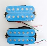 Artec HOA112-BL,Blue Open Humbucker Pickup (Alnico Bar)