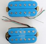 Artec HOC112-BL,Blue Open Humbucker Pickup (Ceramic Bar)