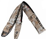 "2"" Width,Length Adjustable,PU leather  Guitar Strap,#GS560"