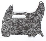 Telecaster '62 pickguard 3ply Black Pearl fits fender
