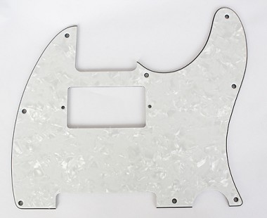 Pearl White Tele humbucker cut-out pickguard 8-hole mounting