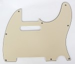 Telecaster '62 pickguard 3ply Cream fits fender