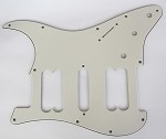 Strat 2H/1S HSH pickguard Parchment 3 ply for Fender