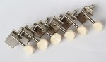 Ivory Button,Stratocaster or Telecaster Vitage Machine Head 6 inline Nickel,with 8.3mm bushing ferrule,#DJ271N-IV,DJ271N-IV