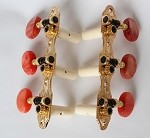 Classic Guitar 3L/3R Machine Heads,Gold Finish,Light Red Brown Pearl Button,#405GK-P14R