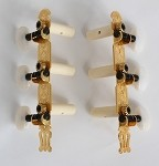 Classic Guitar 3L/3R Machine Heads,Gold Finish,White Pearl Button,#216GK