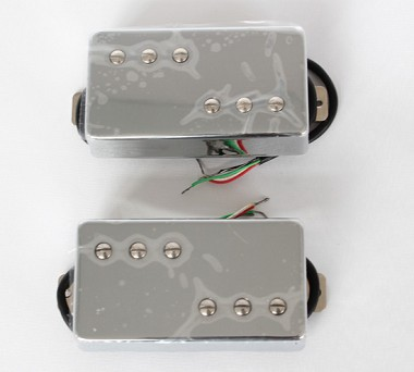 Chrome Covered Pickup,Alnico-V,Les Paul Pickup,Neck/Bridge,#WX-072A