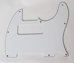 Tele P90 pickup Routing pickguard 3 ply white