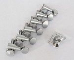 Locking Nut, Satin Chrome Machine Head Tuner, 6 inline Strat Tele Neck,#JN-07LOKSATINCR