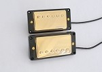 Wilkinson WVC Vitage Covered Humbucker Pickup,Gold Cover,with Curved Black Pickup Ring,Alnico