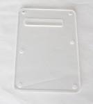 Clear,Transparent pickguard,Stratocaster Standard Back Plate