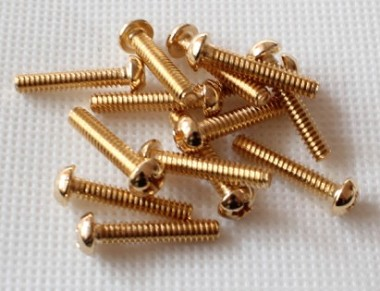 20PCS,Strat Pickup Height Adjusting Screw,Gold,Fits Fender Strat Pickup