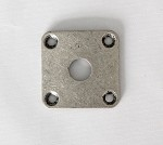 Square Curved Jack Plate,34.8mm*34.8mm,Antiqued Sliver