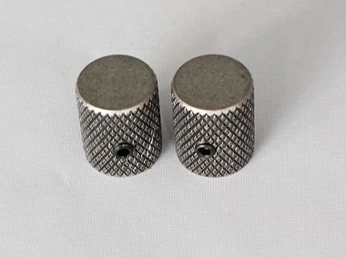 "2Pcs*Antiqued Sliver finish,Slim Thin body Flat top Top,Fit for CTS 1/4""(6.35mm) diameter solid shaft pots"