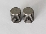 2Pcs*Antiqued Sliver finish,Slim Thin body Flat top Top,Fit 6mm Knurling shaft Asian made pots