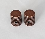 2Pcs*Antiqued Bronze finish,Slim Thin body Flat top Top,Fit 6mm Knurling shaft Asian made pots
