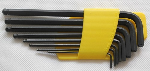 Ball Point Hex Key Wrenches,Metric size,Kit of 8pcs,1.5mm,2mm,2.5mm,3mm,4mm,5mm,5.5mm,6mm
