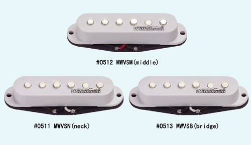 Wilkinson MWVS single-coil Strat Set classic staggered polepiece  White,Black or Ivory Color,Ceramic
