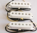 Eric Custom,Noiseless-07 White,Noiseles Double Coil,Normal Single coil Height size 16mm,Sweet Bright Humbucker Sound,Neck/Middle/Bridge,White Single Staggered Pickup,Vitage Cloth Wire, (Alnico5 Rods)