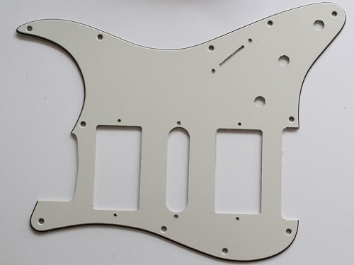 Parchment,Strat 2H/1S(HSH) pickguard,Fits Covered and open Humbucker Pickup