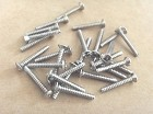 20pcs,Strat Pickup Screw Chrome,Diameter:3mm
