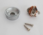 Tele Jack plate Cup For your Tele body custom,Satin Chrome,Metric Thread