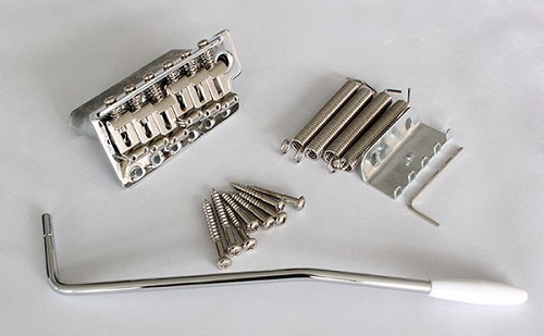 Left Hand,Chrome,Strat Tremolo Gutiar Bridge Tail,Steel Saddle,10.8mm string space,with full square block,ABBQ-101CR