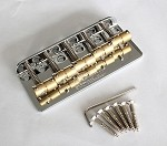 Wilkinson WBBC 5Strings Bass Bridge, Brass Saddle Chrome
