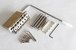 Chrome,Full size 42mm Brass Block,Steel Saddles,Vitage Style Stratocaster Bridge