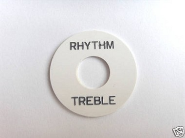 Les Paul Toggle Switch Rhythm Treble White with Black letter words,Adhesive