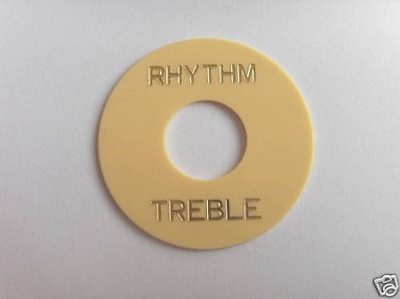 Les Paul Toggle Switch Rhythm Treble Cream with Gold letter words,Adhesive