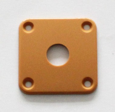 Dark Cream,Plastic Curved Jack Plate,34.8mm*34.8mm,for original Gibson