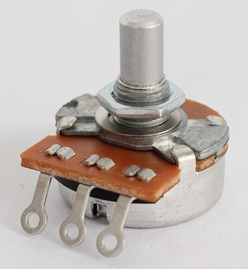 """ALPHA"" Brand Potentiometer,A250K,Full Size ,15mm Length solid shaft,Audio Taper,for Telecaster Wire Custom"