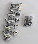 Locking Nut, Chrome Machine Head Tuner, 6 inline Strat Tele Neck,#JN-07LOKCR