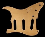 1ply Metal Aluminum Gold Anodized, 8 holes pickguard for Fender Squier Classic Vibe