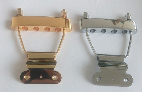 4 Strings,Bass Hollowbody Guitar Tail Piece Tailpiece,Chrome or Gold,#SMS402