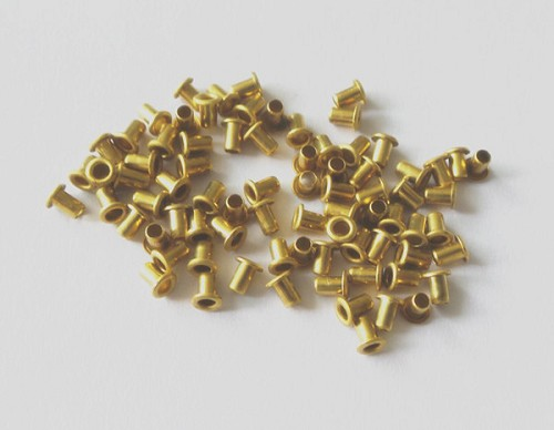 Pack 50 pieces, Brass Pickup Eyelets for Strat Telecaster flatwork