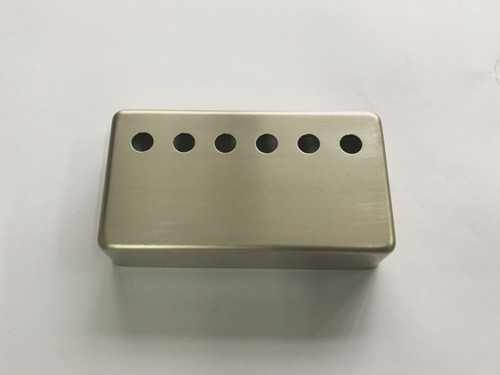 "Raw(No Plated) Humbucker pickup cover,String spread:1-15/16""(49mm),Height 16mm,fits Genuine Gibson Neck Pickup,Nickel Sliver Material"