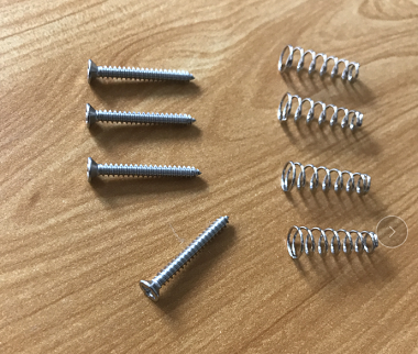 4pcs,Jaguar Pickup Mounting screws with spring,Chrome
