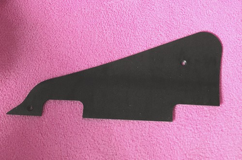 1 Ply Matte Black Pickguard for Gibson Les Paul Deluxe, P90 soapbar pickups