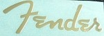 Gold color SelfSticker Metal logo for Fender Repair Neck body