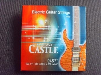 "1set* ""Castle"" brand Electric Guitar String-942"