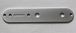 34mm or 32mm width,Satin Chrome Tele Control Plate,Potentiometer Mounting hole diameter 9.6mm(0.38inch)